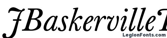 JBaskervilleText Italic Font, Calligraphy Fonts