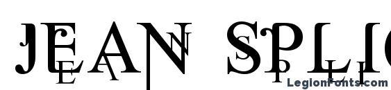 Шрифт Jean Splice
