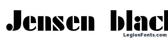 Jensen black bold Font