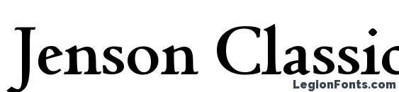 Шрифт Jenson Classico Bold
