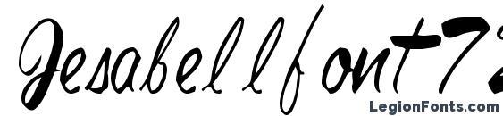 шрифт Jesabellfont72 regular, бесплатный шрифт Jesabellfont72 regular, предварительный просмотр шрифта Jesabellfont72 regular