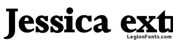 шрифт Jessica extrabold, бесплатный шрифт Jessica extrabold, предварительный просмотр шрифта Jessica extrabold