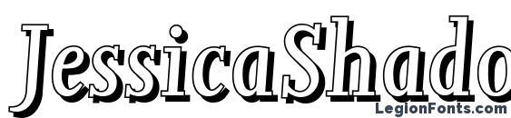 шрифт JessicaShadow Italic, бесплатный шрифт JessicaShadow Italic, предварительный просмотр шрифта JessicaShadow Italic