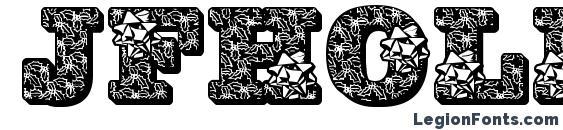 шрифт Jfhollybows, бесплатный шрифт Jfhollybows, предварительный просмотр шрифта Jfhollybows