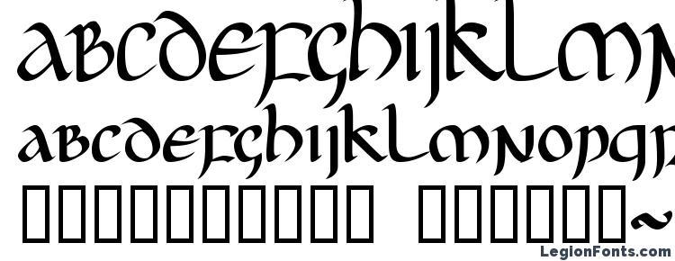 глифы шрифта Jgj uncial, символы шрифта Jgj uncial, символьная карта шрифта Jgj uncial, предварительный просмотр шрифта Jgj uncial, алфавит шрифта Jgj uncial, шрифт Jgj uncial