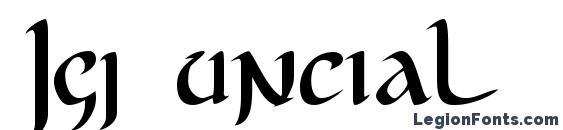 Шрифт Jgj uncial