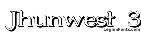 Jhunwest 3D font, free Jhunwest 3D font, preview Jhunwest 3D font