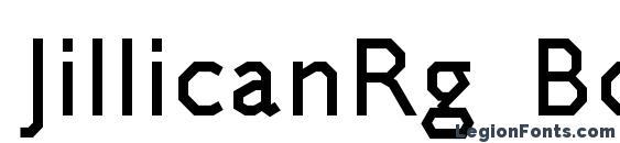 Шрифт JillicanRg Bold