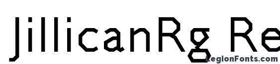 JillicanRg Regular font, free JillicanRg Regular font, preview JillicanRg Regular font