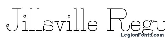 Jillsville Regular font, free Jillsville Regular font, preview Jillsville Regular font