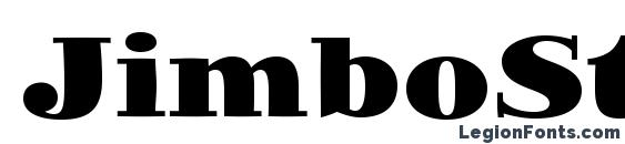 JimboStd Black font, free JimboStd Black font, preview JimboStd Black font