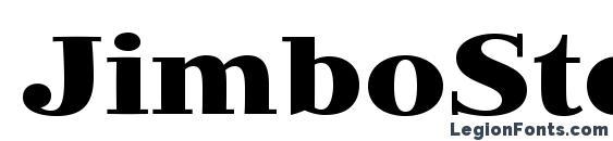 Шрифт JimboStd Bold