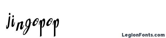 шрифт Jingopop, бесплатный шрифт Jingopop, предварительный просмотр шрифта Jingopop