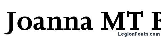 Joanna MT Bold Font