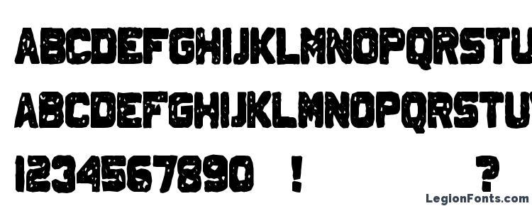 глифы шрифта Johnny Homicide, символы шрифта Johnny Homicide, символьная карта шрифта Johnny Homicide, предварительный просмотр шрифта Johnny Homicide, алфавит шрифта Johnny Homicide, шрифт Johnny Homicide