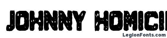 Шрифт Johnny Homicide