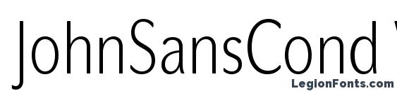 JohnSansCond White Pro Font