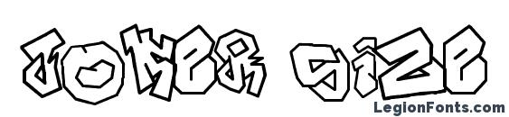 JOKER SIZE Font