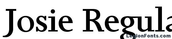 Шрифт Josie Regular