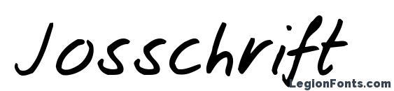 Шрифт Josschrift