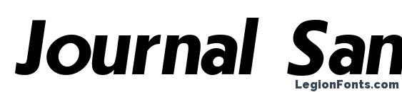 Шрифт Journal SansSerif Bold Italic.001.001