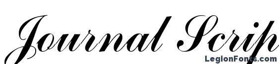 Journal Script SSi Font