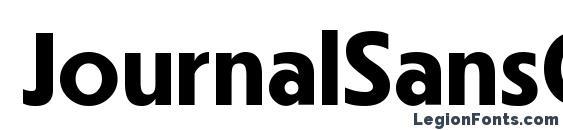 JournalSansCTT Bold Font