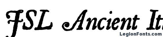 Шрифт JSL Ancient Italic