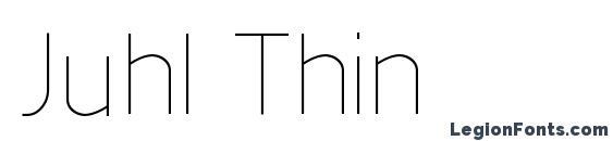 Шрифт Juhl Thin