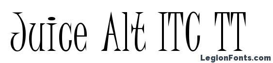 шрифт Juice Alt ITC TT, бесплатный шрифт Juice Alt ITC TT, предварительный просмотр шрифта Juice Alt ITC TT
