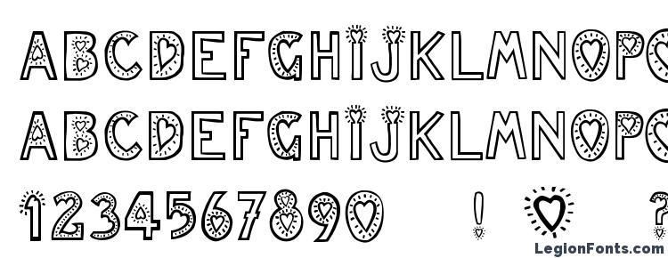 глифы шрифта Juleslove, символы шрифта Juleslove, символьная карта шрифта Juleslove, предварительный просмотр шрифта Juleslove, алфавит шрифта Juleslove, шрифт Juleslove