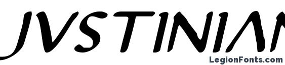 шрифт Justinian 2 Italic, бесплатный шрифт Justinian 2 Italic, предварительный просмотр шрифта Justinian 2 Italic