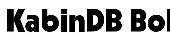 KabinDB Bold Font