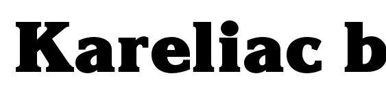 Kareliac bold Font, OTF Fonts