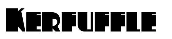 Kerfuffle Font