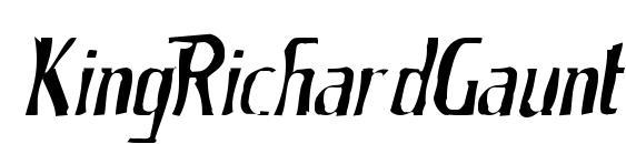 KingRichardGaunt Font