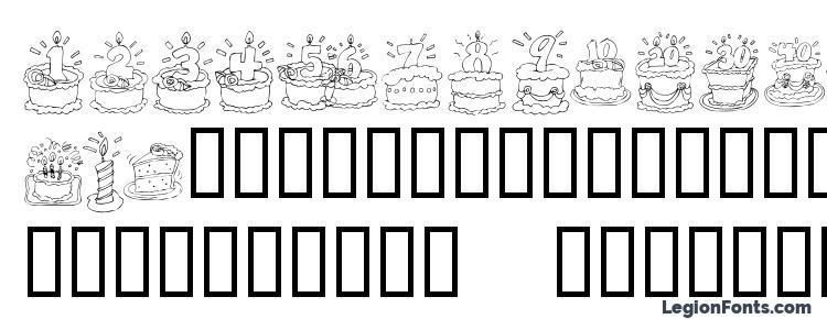 Kr Birthday Cake Dings Font Download Free Legionfonts