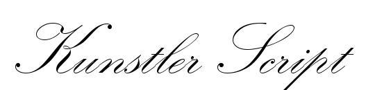 Kunstler Script font, free Kunstler Script font, preview Kunstler Script font