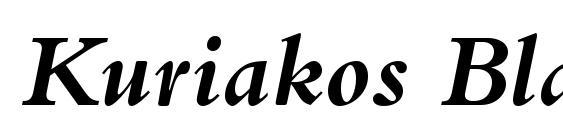 Kuriakos Black SSi Bold Italic Font