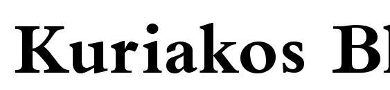 Kuriakos Black SSi Bold Font