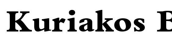 Kuriakos Black SSi Extra Bold Font