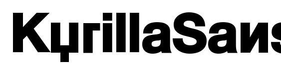 KyrillaSansSerif Black Font, PC Fonts