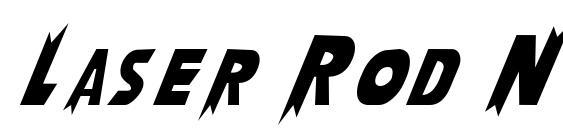 Laser Rod Normal Font