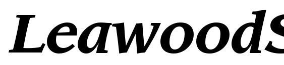 LeawoodStd BoldItalic Font, OTF Fonts