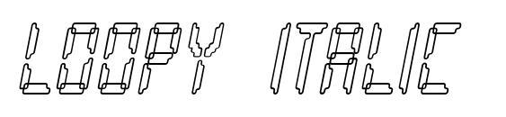 Loopy italic Font