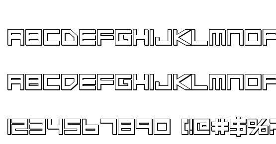 Low Gun Screen Bold 3D Font Download Free / LegionFonts
