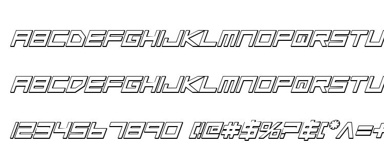 Low Gun Screen Bold Italic 3D Font Download Free / LegionFonts