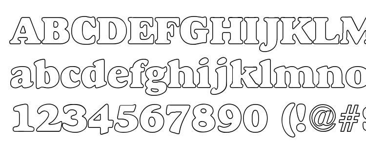 Macbeth hollow bold Font Download Free / LegionFonts