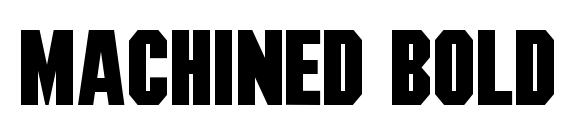 Machined bold Font
