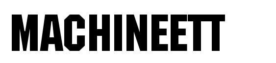 MachineETT Font